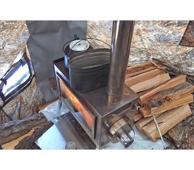 """Походная печь для палатки Берег """"Камин"""" большая"""